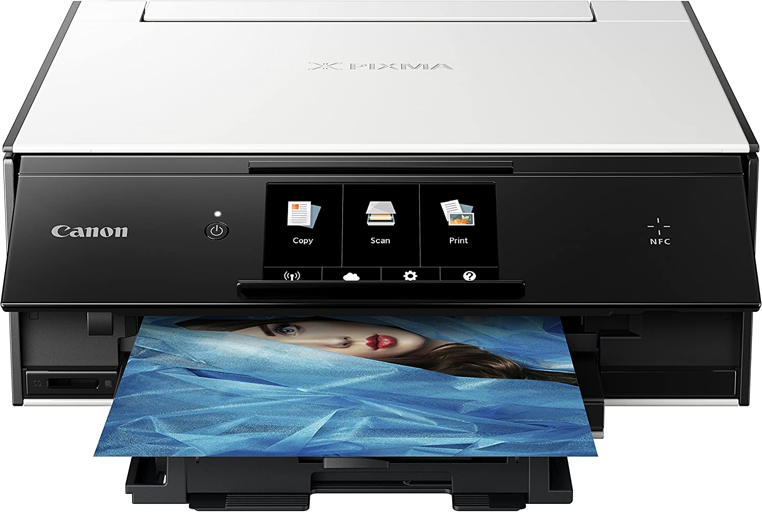 Canon TS9020 Wireless All-In-One Printer with Scanner and Copier: Mobile and Tablet Printing, with AirPrint and Google Cloud Print Compatible, White