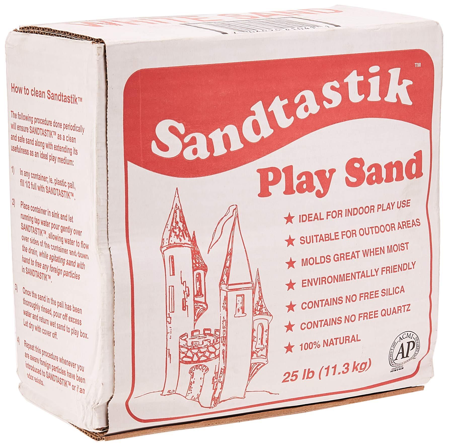 Sandtastik Sparkling White Play Sand, 25 Pounds by Sandtastik