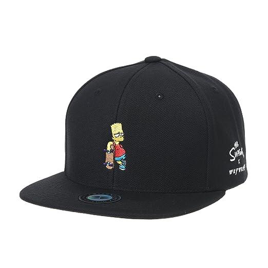 ff7ab9a1710 WITHMOONS The Simpsons Baseball Cap Bart Simpson Skateboard Snapback Hat  HL2964 (Black)