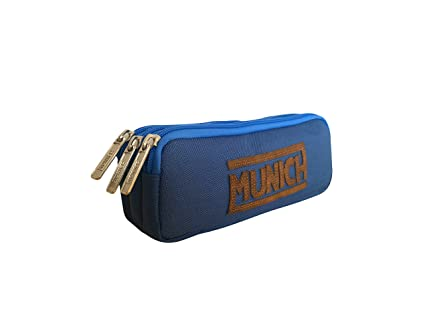 Munich 252863 Leather Neceser, 21 cm, Azul Marino, munich leather, cuero