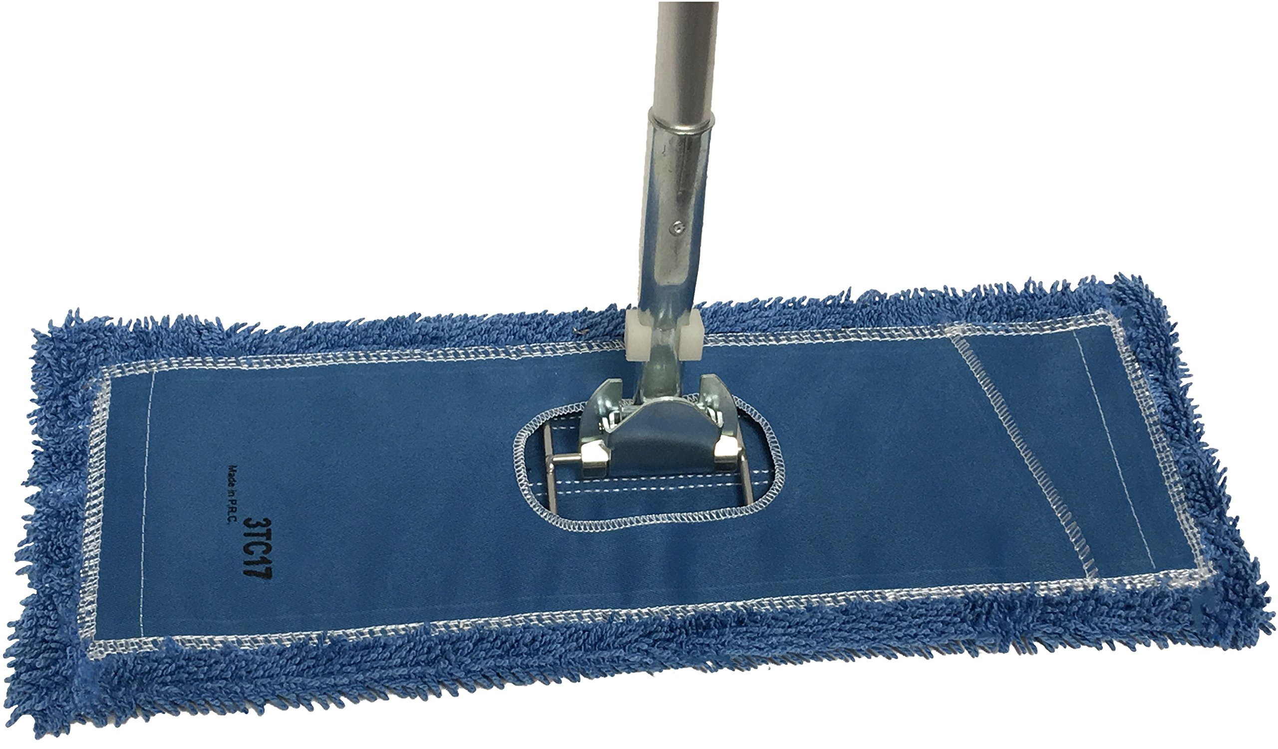 Dust Mop Kit 72'' : (1) 72'' Blue Microfiber Dust Mop, (1) 72'' Wire Dust Mop Frame & (1) Ergonomic Dust Mop Handle