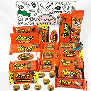 Gran caja de regalo caramelos Reeses americanos | Selección de chocolate con mantequilla de cacahuete |