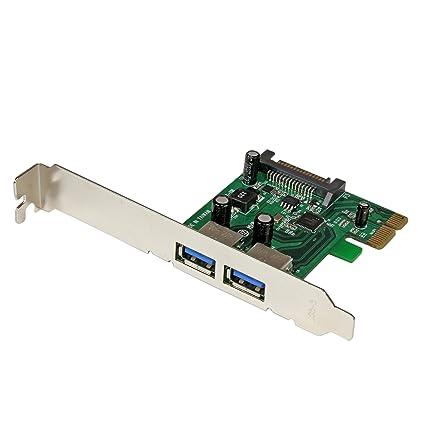 StarTech.com PEXUSB3S24 - Tarjeta PCI Express de 2 Puertos USB 3.0 con UASP y alimentación SATA
