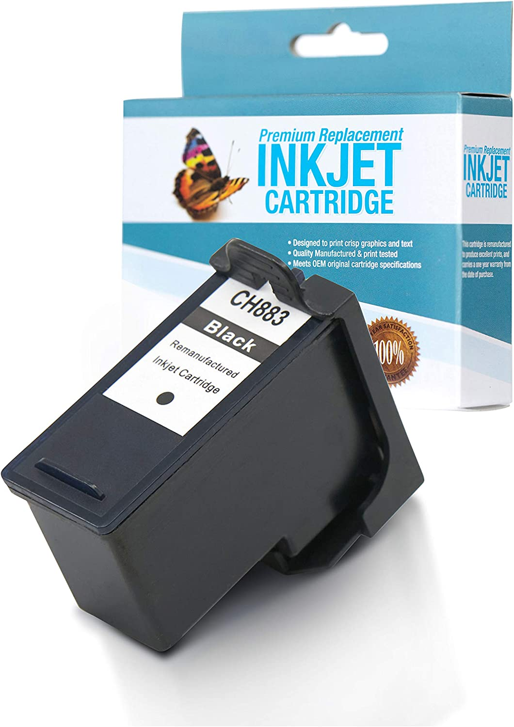 SuppliesOutlet Remanufactured Ink Cartridge Replacement for Dell CH883 / GR274 / GR280 / DH828 / 310-8373/310-8376 (Black,1 Pack)