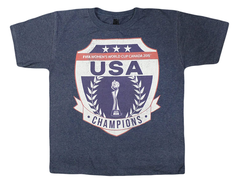 Amazon.com  Unisex Big Kids 6-20 Fifa USA Women s World Cup Champions T- shirt  Clothing b739ed6d50