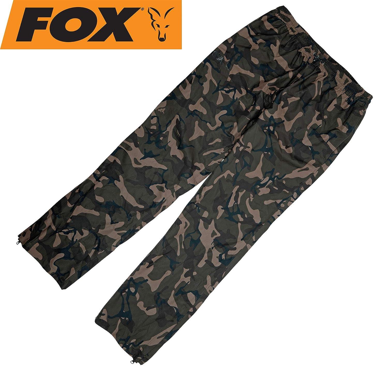 Fox Chunk Camo 10k Lightweight RS Trousers - Regenhose zum Angeln, Angelhose für Angler, Hose für Karpfenangler & Wallerangler, Größe XL