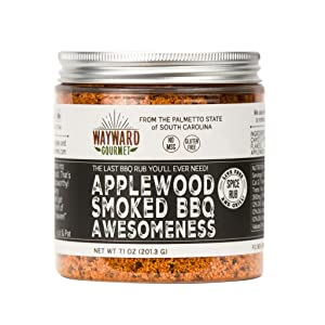 Applewood Smoked BBQ Awesomeness - Rub & BBQ Seasoning - Best BBQ Grill Seasoning Rub - Made for Chicken, BBQ Meat, Hamburgers, Pulled Pork, Ribs, Steaks - Dry Rub Spice Blend