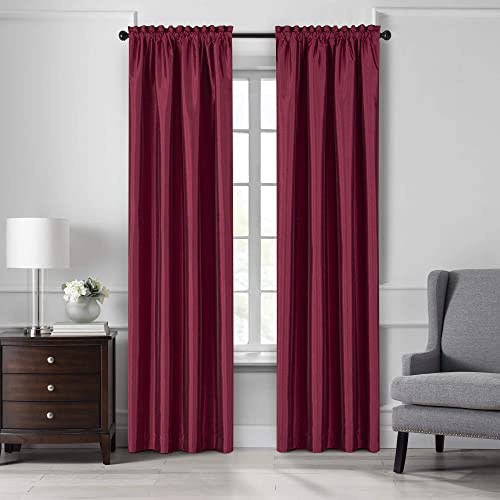 Elrene Home Fashions Colette Faux Silk Blackout Window Curtain Panel