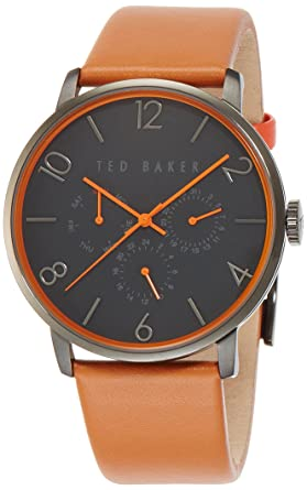 4c3a3a8120d6 Ted Baker Men s 10023490 Classic Analog Display Japanese Quartz Brown Watch