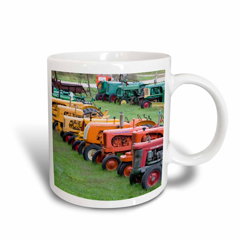 3dRose mug_95058_1 Vermont, Manchester Antique Farm Tractor Us46 Wbi0005 Walter Bibikow Ceramic Mug, 11-Ounce by 3dRose