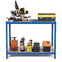 """""""Racking Solutions - Banco de trabajo cargas pesadas, casa, garaje, bricolaje, capacidad de carga total de 600kg (2…"""
