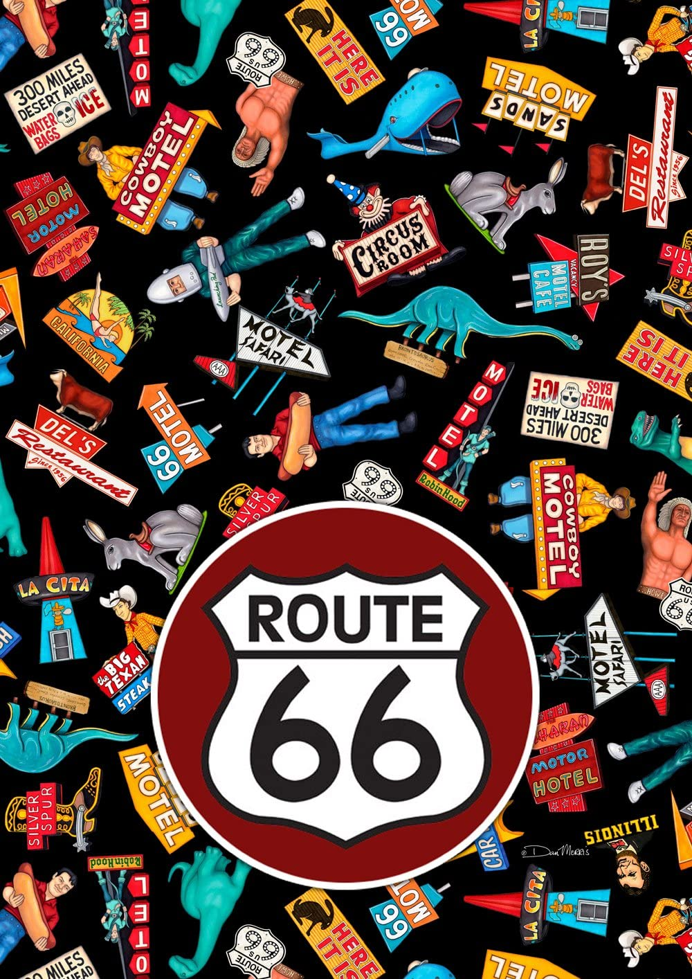 Toland Home Garden Kicks On 66 12.5 x 18 Inch Decorative Vintage Highway Route Motel Car Garden Flag