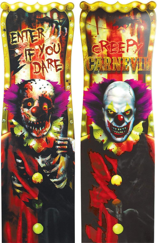 Creepy Carnival Lenticular Sign   Halloween Decor