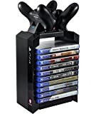 Numskull Game Tower + Station de charge pour PS4 - Socle rangement + Chargement