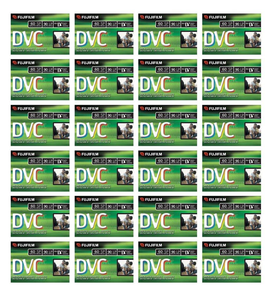 Fuji Mini DV Videocassette Tape Camcorder DVC60 DV60 DVM60 60-Minute DVC (24 Pack)