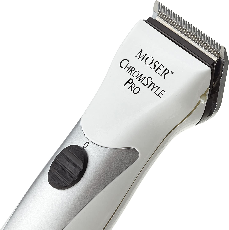 Moser Chrom Style Pro - Cortapelos diseño cromado color blanco ...