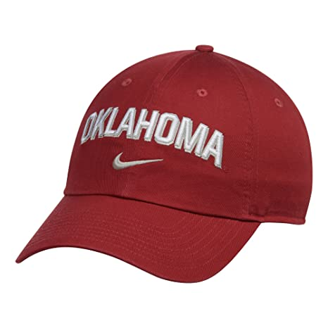 watch 3bb4b 87604 Image Unavailable. Image not available for. Color  NIKE Oklahoma Sooners  Heritage 86 Wordmark Swoosh Adjustable Hat Crimson