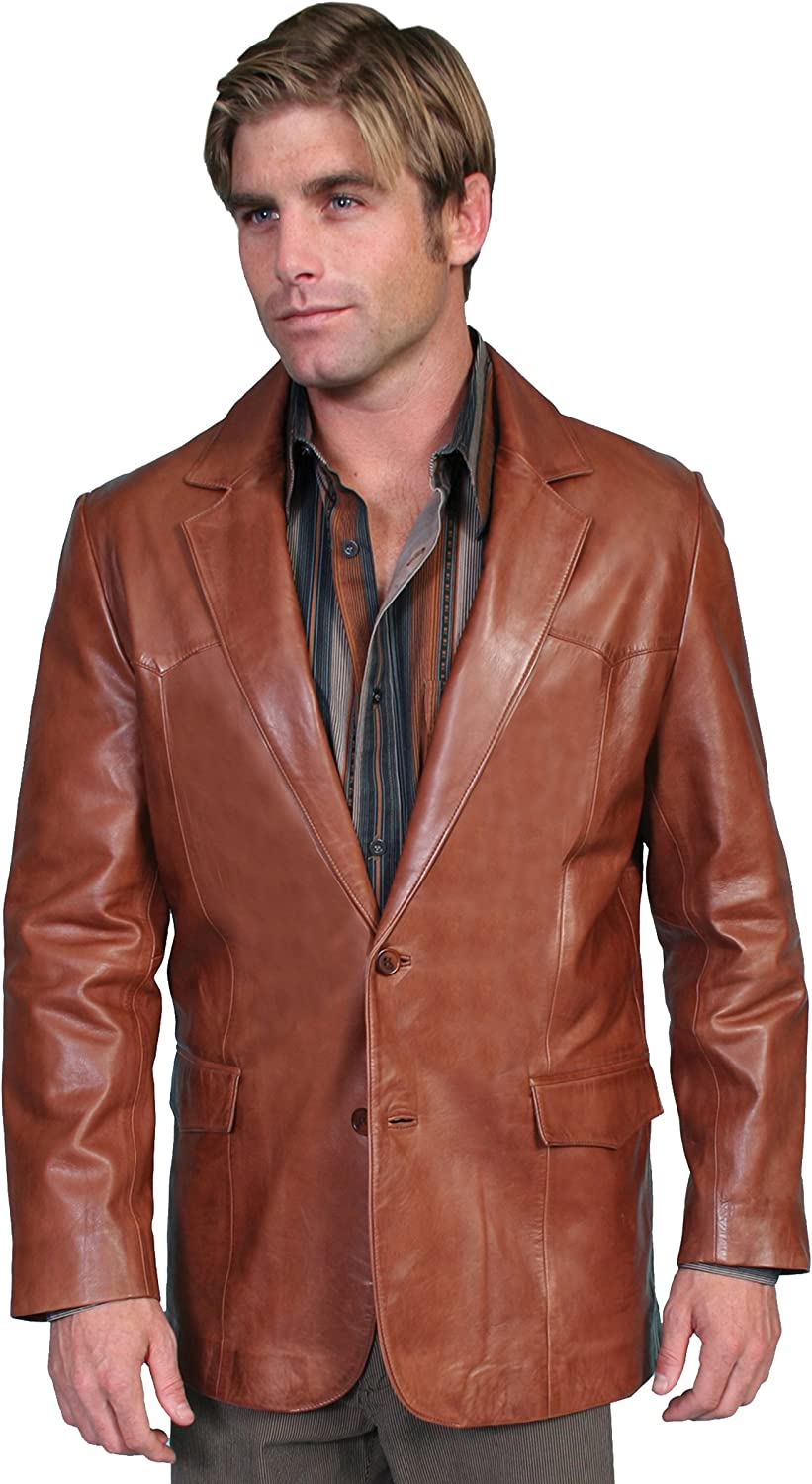 Scully Men's Lamb Leather Blazer Regular - 501-189 at  Men's Clothing store