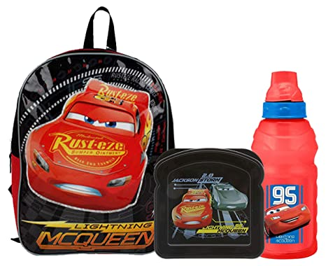 0ab5c4b42b0 Image Unavailable. Image not available for. Color  Boy s quot School  Ready quot  Cars Lightning McQueen Full Size Kids Backpack ...