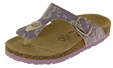 6853148e1 De Fonseca Girls Lilac Leather Lined Toe Post Summer Sandals UK 11 Kids