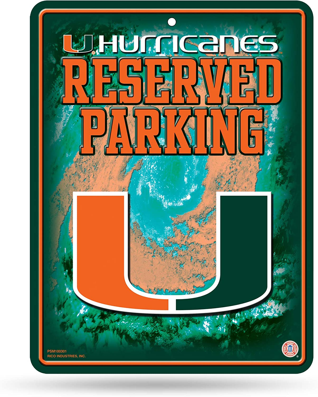 Rico Industries NCAA Fan Shop 8.5-Inch by 11-Inch Metal Parking Sign Décor