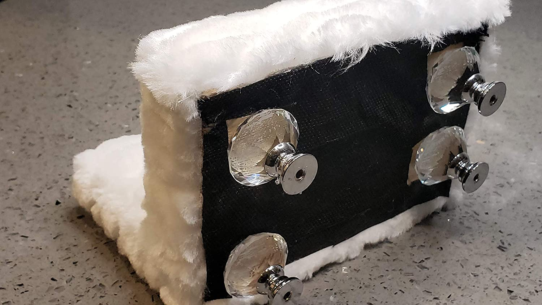 Snowhite Faux fur armless love seat