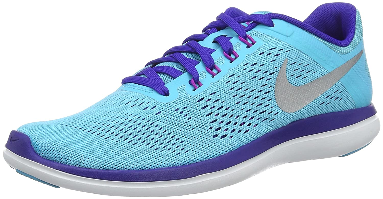 NIKE Women's Flex 2016 Rn Running Shoes B014ECJR1C 5 B(M) US|Gamma Blue/Metallic Silver/Concord
