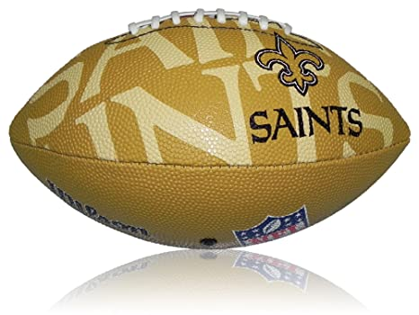 Wilson Football NFL Junior New Orleans Saints Logo - Balón de ...