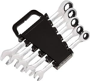 AmazonBasics Ratcheting Wrench Set - SAE, 5-Piece