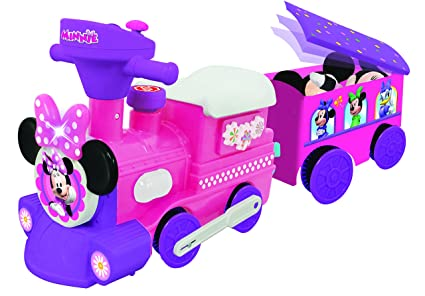 Amazon Com Kiddieland Disney Minnie Mouse Ride On Motorized Train