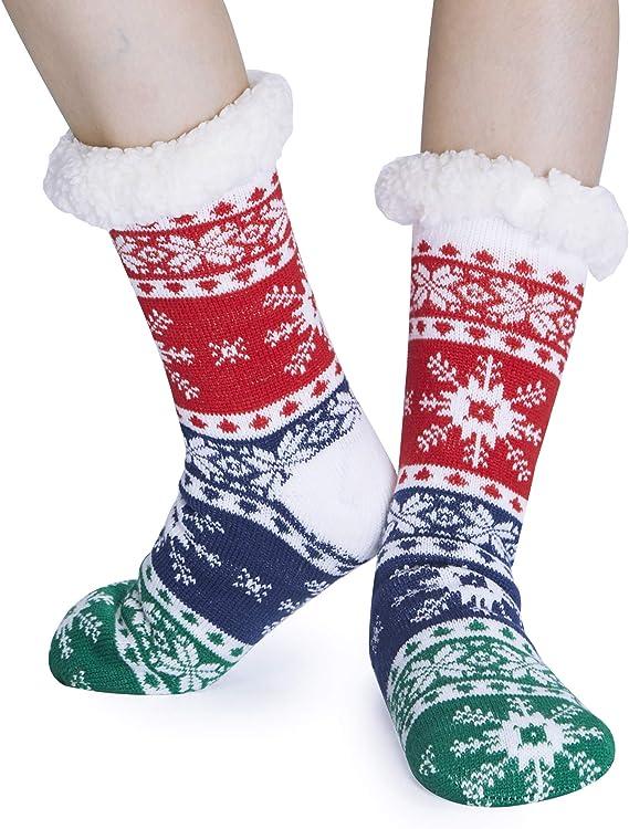 Da Donna Inverno Festive Feet Novità Di Natale Fairisle Calzini Alla Caviglia Misura 4-8