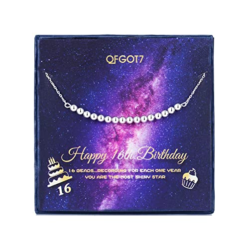Amazoncom Ofgot7 Sweet 16 Gifts For Girls Necklace 16th