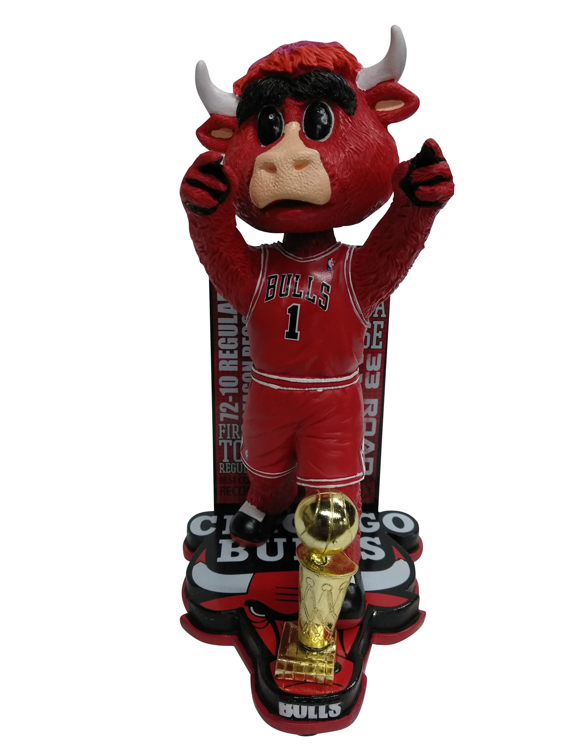 Benny the Bull Chicago Bulls NBA Greatest Season Bobblehead - Numbered to 216