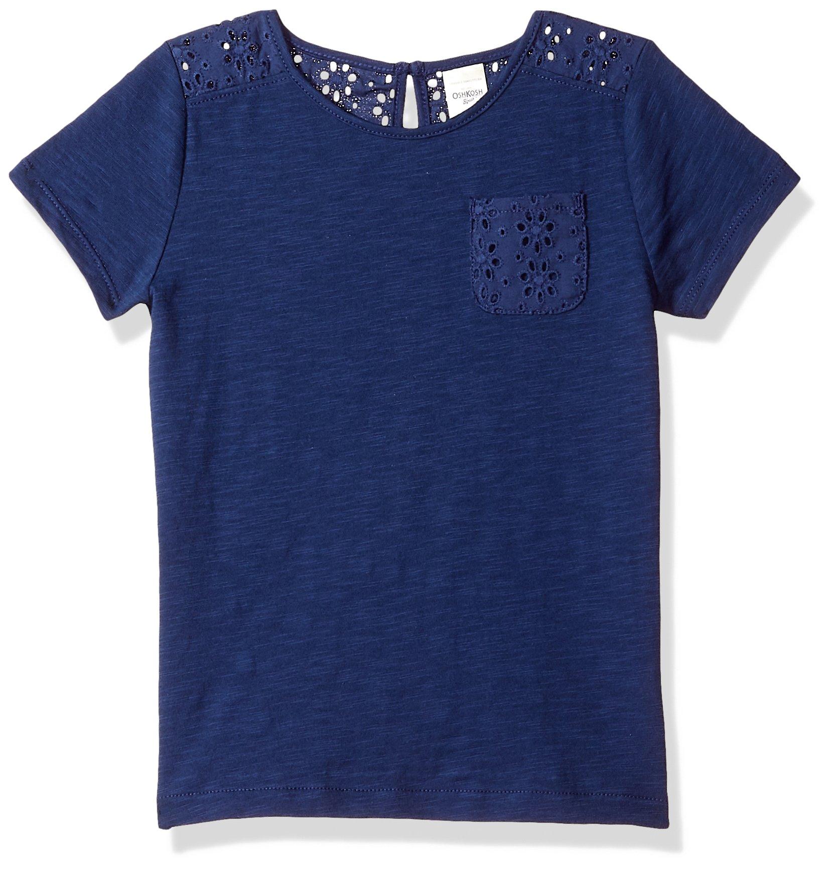Osh Kosh Girls' Kids Fashion Tops, Indigo Blue, 4-5