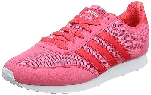 adidas V Racer 2.0, Zapatillas de Entrenamiento para Mujer, Rosa (Real Pink/Shock Red/Footwear White 0), 36 2/3 EU: Amazon.es: Zapatos y complementos