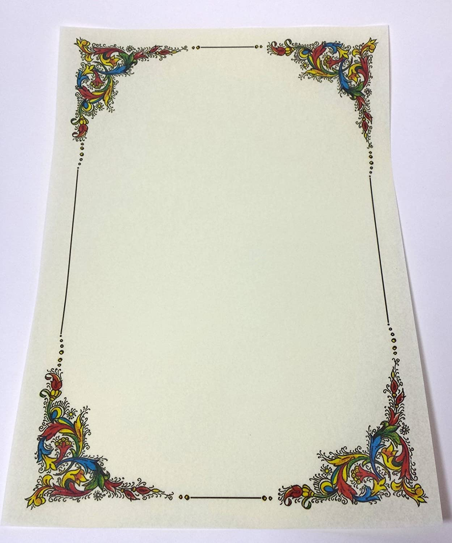 N° 5 PERGAMENA A4 STAMPABILE DIPLOMA CARTA DECORATA avorio cartoncino marmor 1 KARTOS