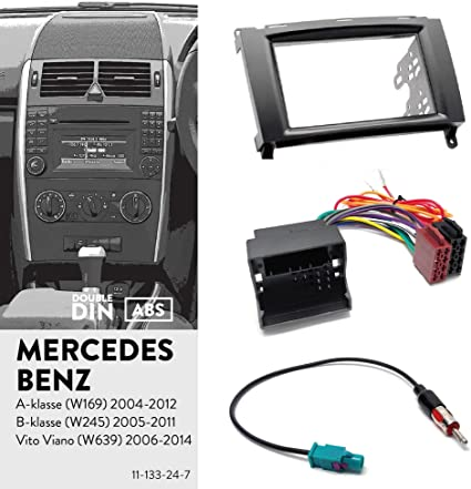 2004-2012 Mascherina supporto autoradio ISO Mercedes Classe A W169