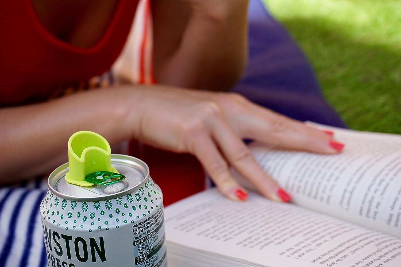 Pajita multiusos para latas de refresco Canper es un nuevo tap/ón de latas reutilizable para el consumo higi/énico de bebidas enlatadas Emoji 4 Pack