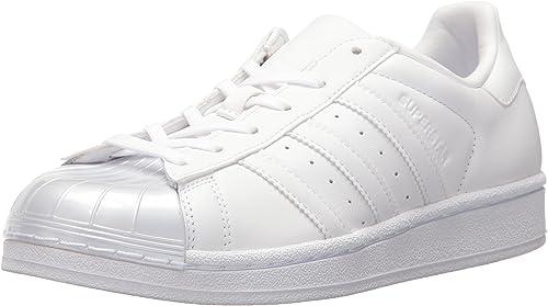 adidas Originals Women's Superstar Glossy Toe W Fashion Sneaker