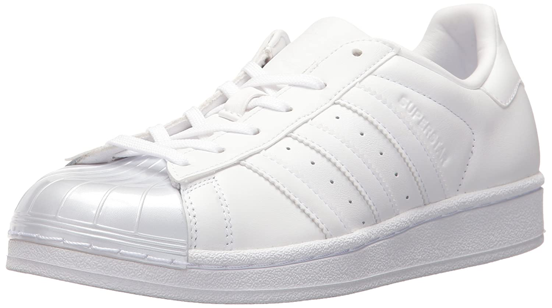 adidas Originals Women's Superstar Glossy Toe Fashion Sneakers B01HJ2185M 7.5 M US|White/White/Black