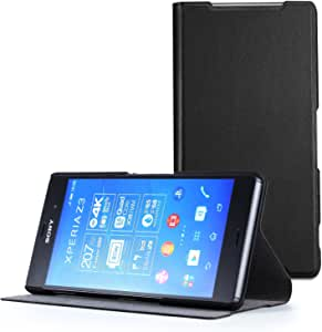 Sony Xperia Z3 Case - Poetic Sony Xperia Z3 Case [FlipBook Series] - [Lightweight] [Professional] PU Leather Protective Flip Cover Case for Sony Xperia Z3 Black (3 Year Manufacturer Warranty From Poetic)
