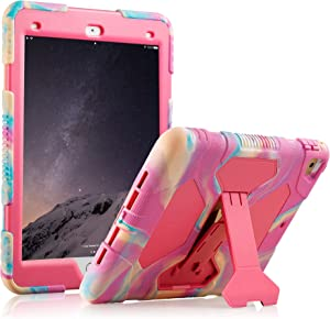 iPad Pro 9.7 Case Shockproof Case Ultra Slim Light Weight Stand Case for iPad Pro 9.7 Inch 2016 Release (Pink)