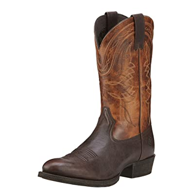 b259834e ARIAT Men's Comeback Western Boot Sturdy Brown Size 9 Ee/Wide Us