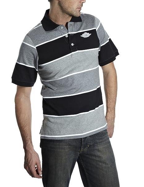 Nike Men s air jordan Sombras de gris Polo de manga corta Gris ...
