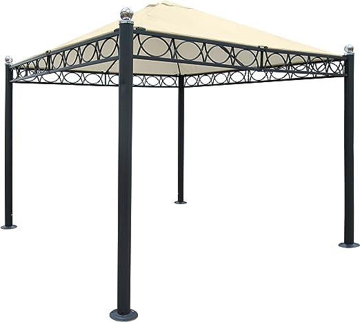 Pergola Bela Antigua, Cenador, estructura estable de 10 cm de lujo aluminio, 3 x 3 m ~ Sin pared laterales: Amazon.es: Jardín