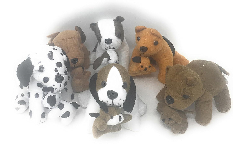 Bedwina Stuffed Animals Bulk Pack Of 12 Plush Puppy Dogs Assorted