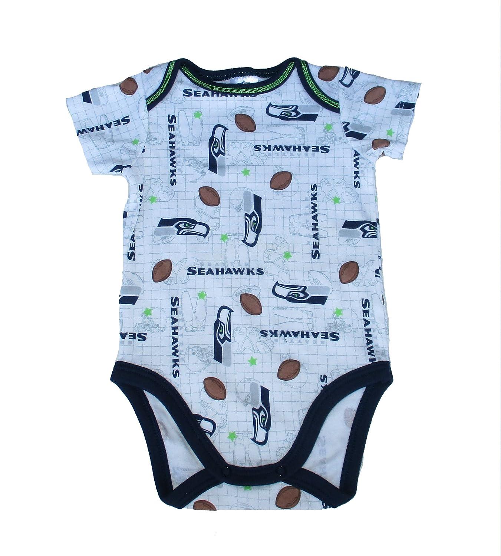 Seattle Seahawks Football Infant Onesieサイズ3 – 6ヶ月ボディースーツ – ホワイトAll Overロゴ   B074XKPY8N