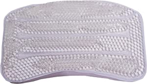 "Splash Home Gel-B Non Slip Bath Pillow Luxurious Cushion Spa, 11"" x 2"" x 7"", Clear"