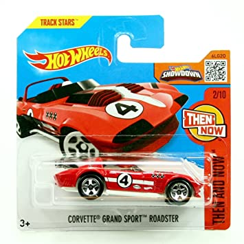 b5f884b9fb1 Amazon.com: CORVETTE GRAND SPORT ROADSTER (Red #4) Short Card Package  (102/250) Hot Wheels 2016 HW THEN AND NOW SERIES (02/10) 1:64 Scale  Die-Cast Vehicle: ...