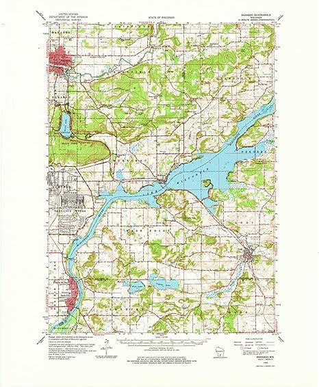 Amazon Com Yellowmaps Baraboo Wi Topo Map 1 62500 Scale 15 X 15